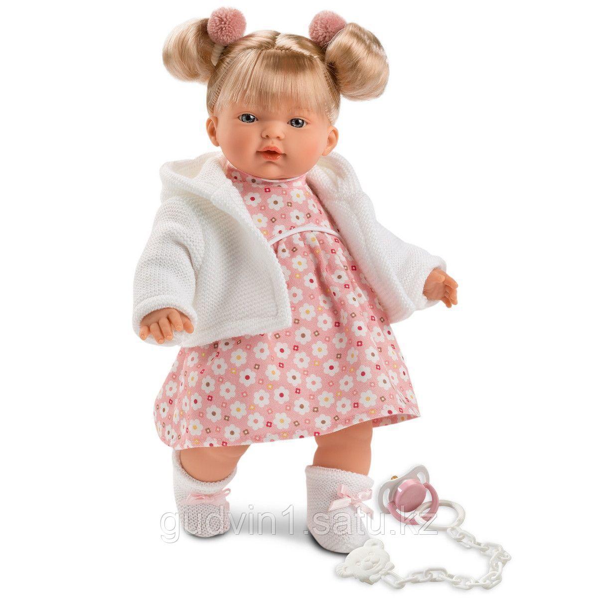 LLORENS: Кукла малышка Ариана 33 см, в белой курточке 33302