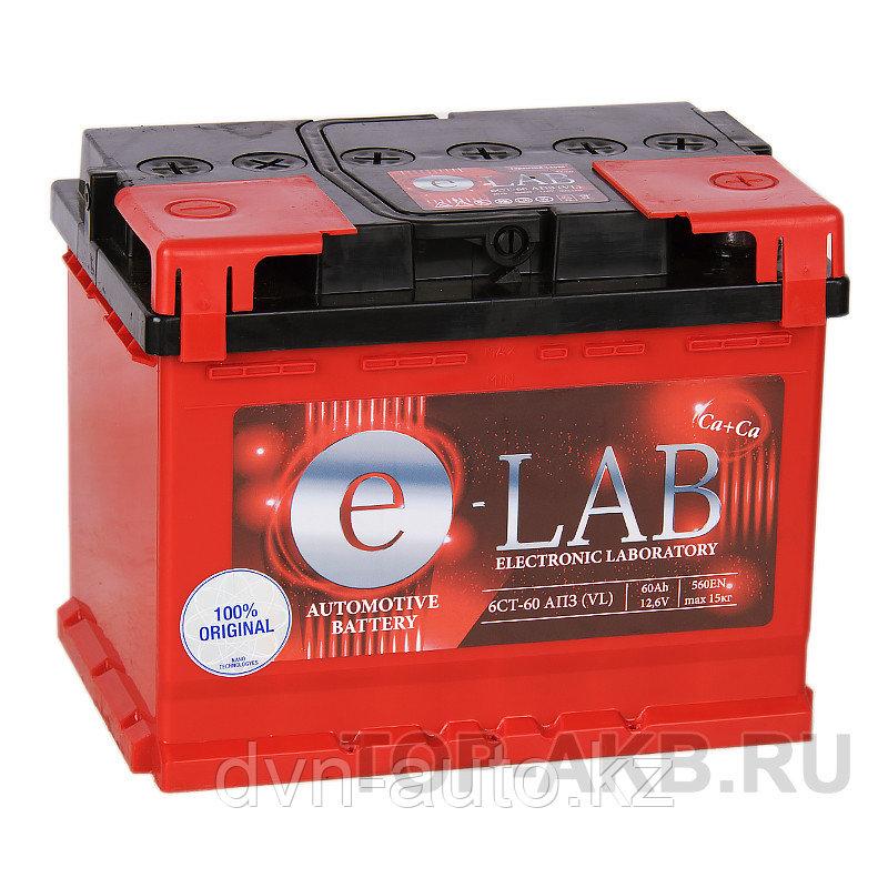 Аккумулятор автомобильный E-LAB 60R   -+