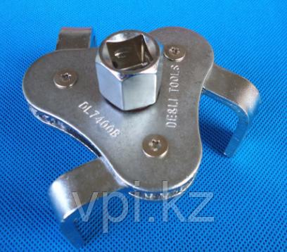 Ключ съемник масляного фильтра, тройной, 54-116мм, De&Li