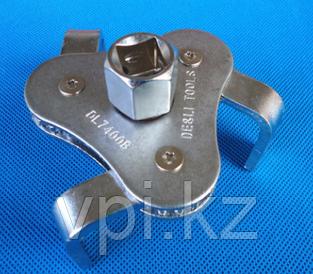 Ключ съемник масляного фильтра, тройной, 50-115мм, De&Li