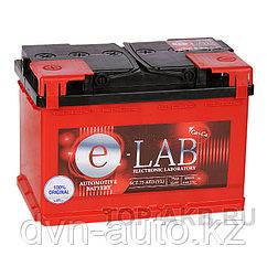 Аккумулятор автомобильный E-LAB 75R  -+