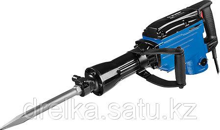 Отбойный молоток электрический ЗУБР ЗМ-40-1700 К, бетонолом, HEX-30, 40 Дж, 17 кг, 1400 уд/мин, 1700 Вт, кейс, фото 2