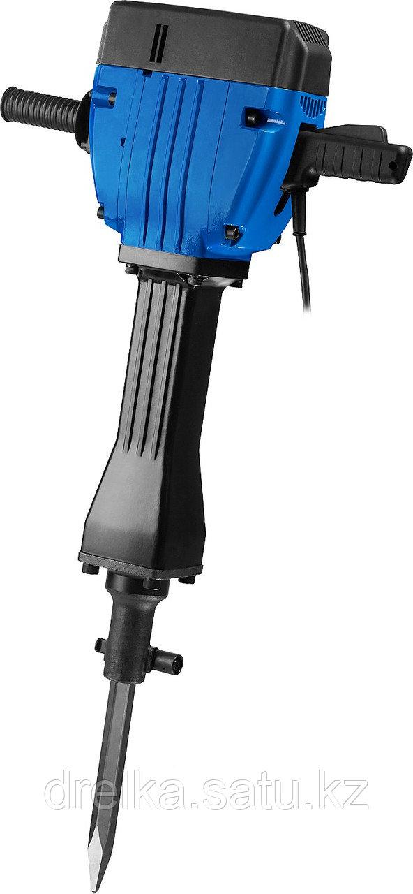 Отбойный молоток электрический ЗУБР ЗМ-60-2200 ВК, бетонолом, HEX-28, 60 Дж, 32 кг, 950 уд/мин, 2200 Вт, АВТ