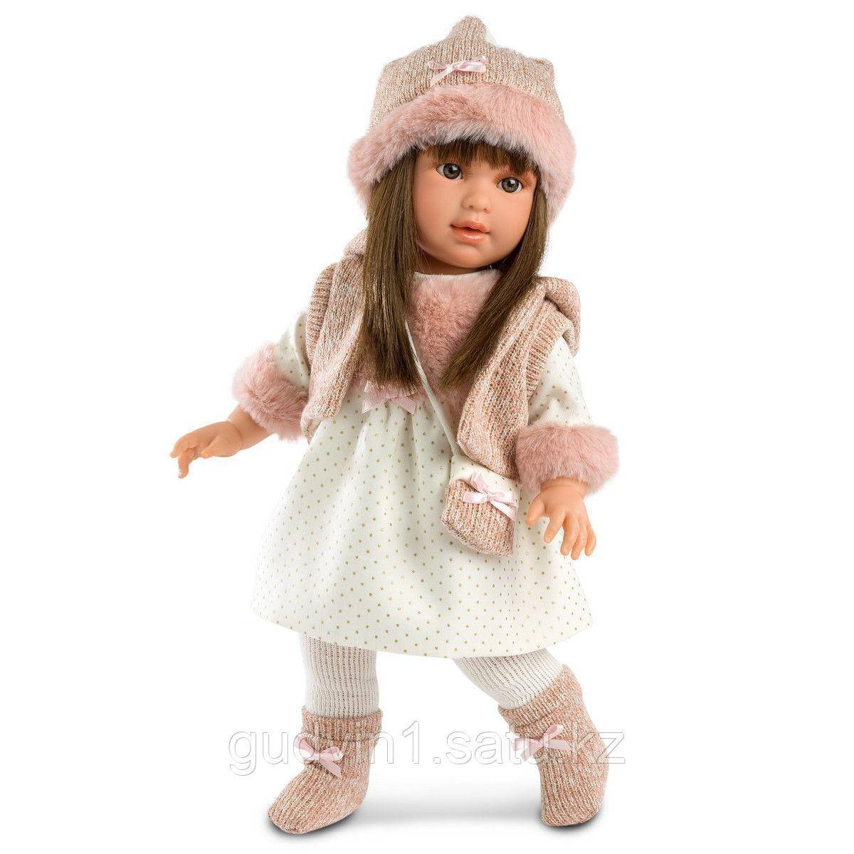 LLORENS: Кукла девочка в  желете и шапке