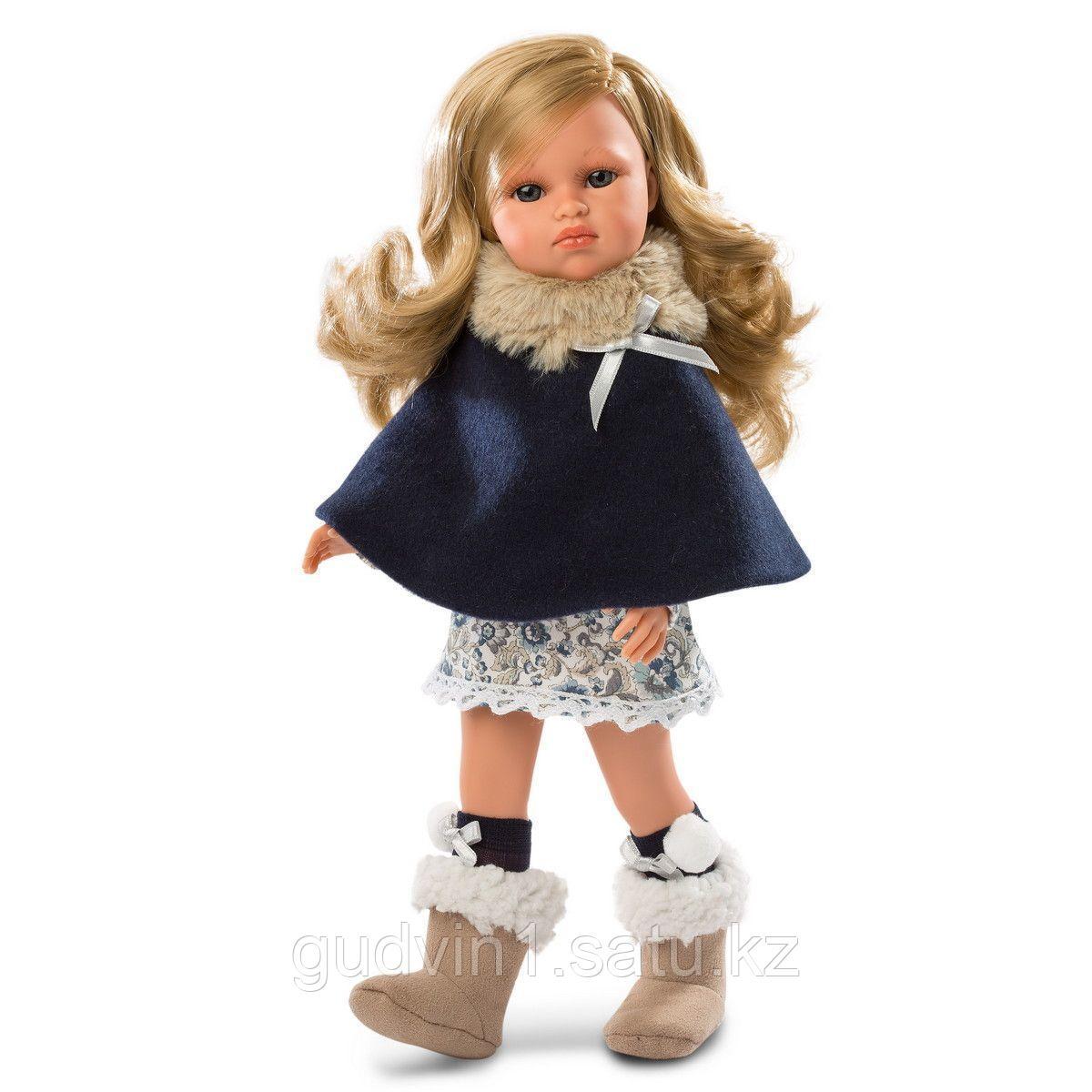LLORENS: Кукла Оливия 37см, блондинка в синей накидке 53702