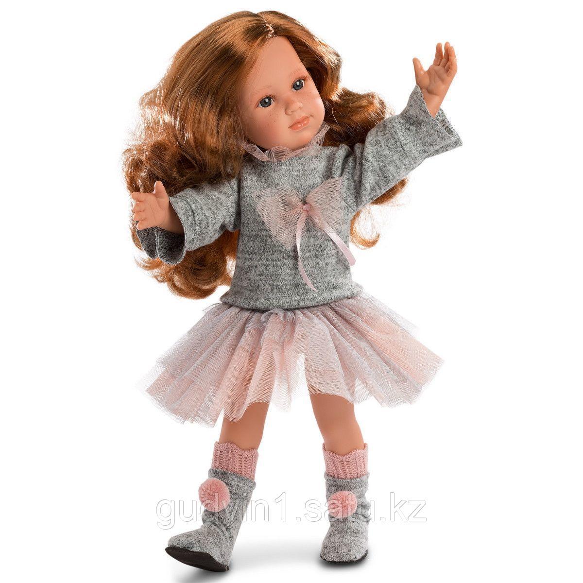 LLORENS: Кукла София 42см, брюнетка в розовой курточке 54206