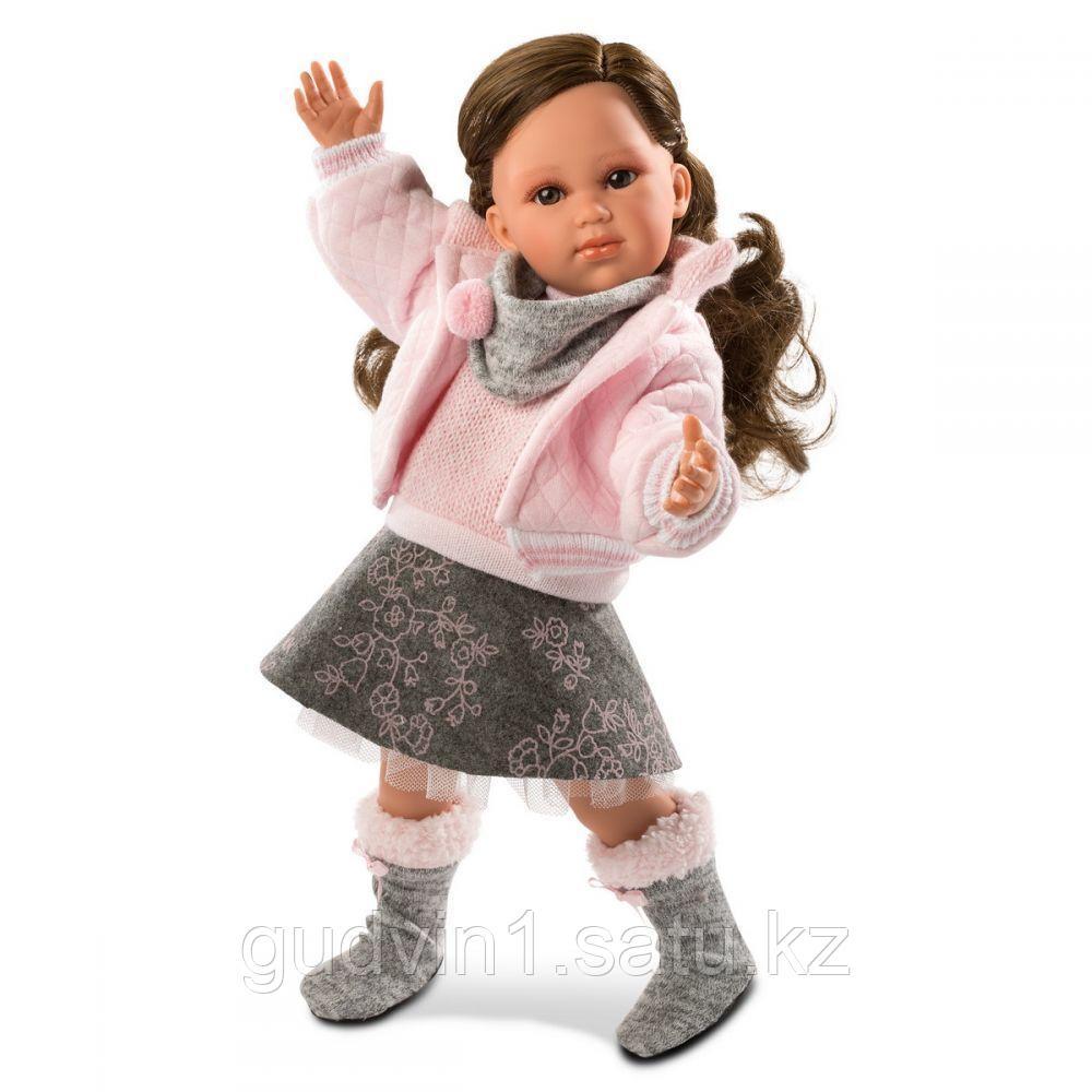 LLORENS: Кукла Хелена 42см, брюнетка в розовой курточке 54205