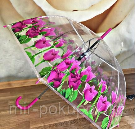 Зонт трость с тюльпанами, Алматы