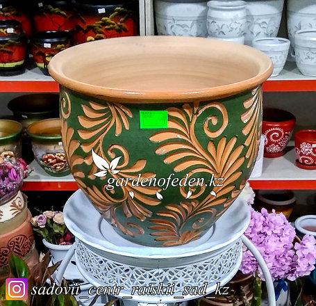 Керамический горшок для цветов (без поддона). Объем: 7л, фото 2
