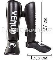 Щитки для ног Venum Elite Black (с белой надписью) XS