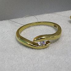 Кольцо Берта💎/ жёлтое золото