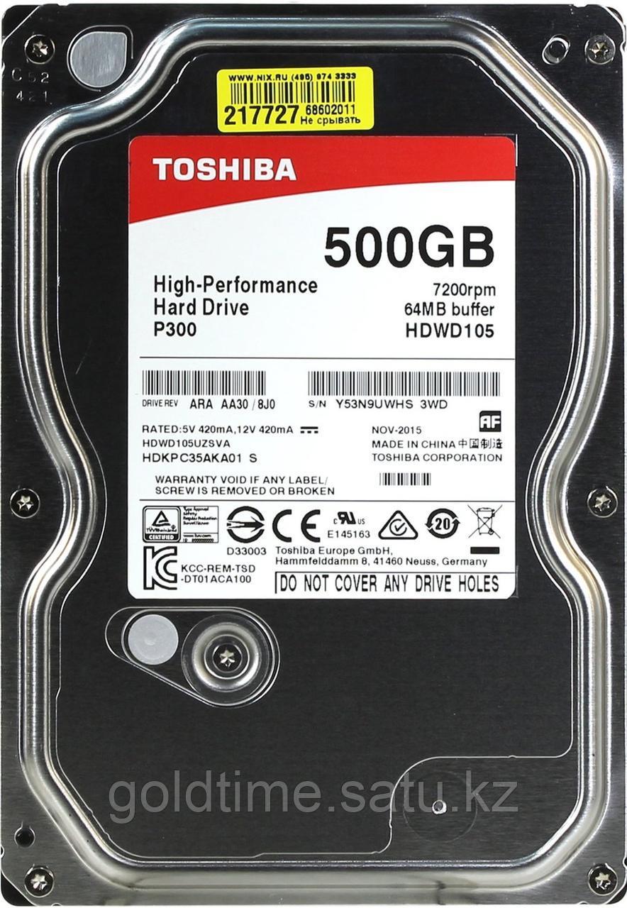 Жесткий диск Toshiba P300 500 Гб HDWD105UZSVA SATA