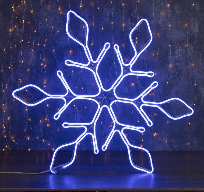 """Фигура неоновая """"Снежинка"""" 67х67 см, 720 LED, 220V, ТЕПЛЫЙ-БЕЛЫЙ"""