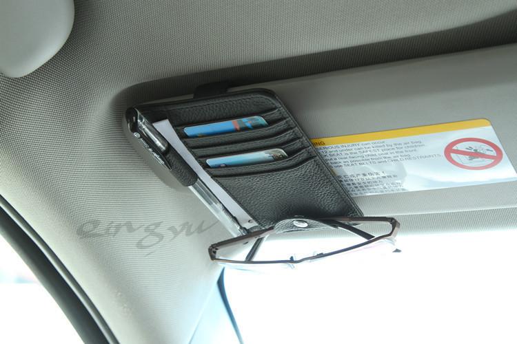 Кожаная документница для машины