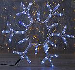 """Фигура дюралайт """"Снежинка"""" 39х39 см,72/12 LED, СИНИЙ-БЕЛЫЙ, фото 2"""