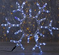 """Фигура дюралайт """"Снежинка"""" 39х39 см,72/12 LED, СИНИЙ-БЕЛЫЙ , фото 2"""