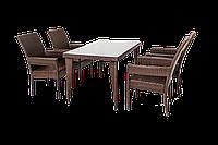 Комплект 4 стулья и 1 стол. Ротанговый плетеный мебель. Camelia 2
