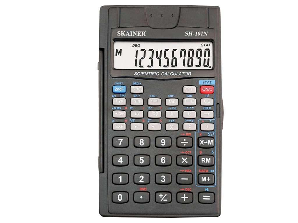 """Калькулятор научный SKAINER """"SH-101N"""" 8+2 разрядов, 56 функций"""