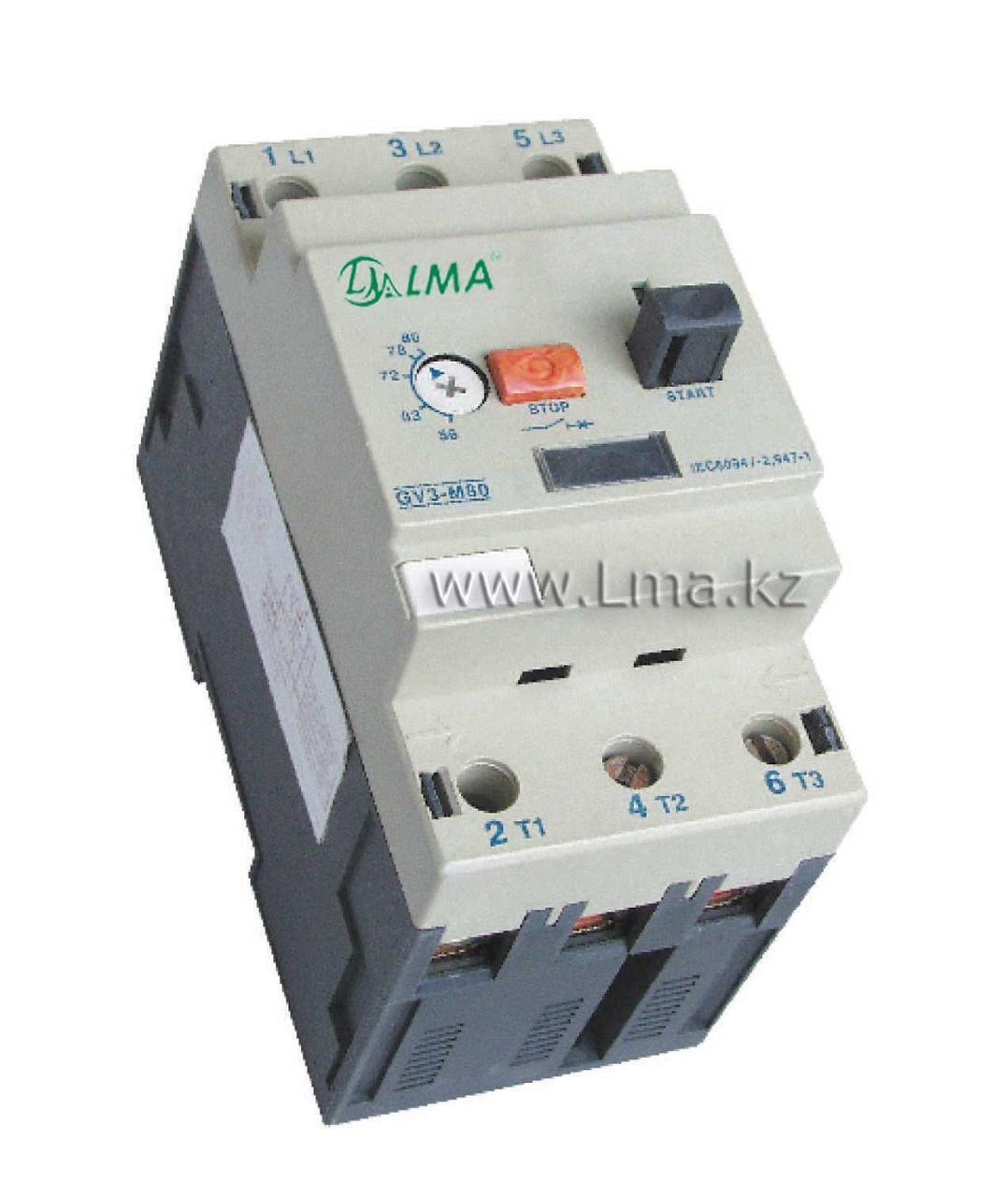 Автомат защиты двигателя GV 3М 63 (40-63A) АЗДЛ-3