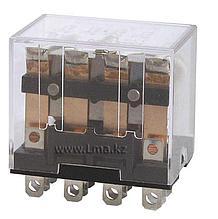 Реле промежуточное LY-4 РПЛ4-10А AC 220V, 4 пары контактов 10А