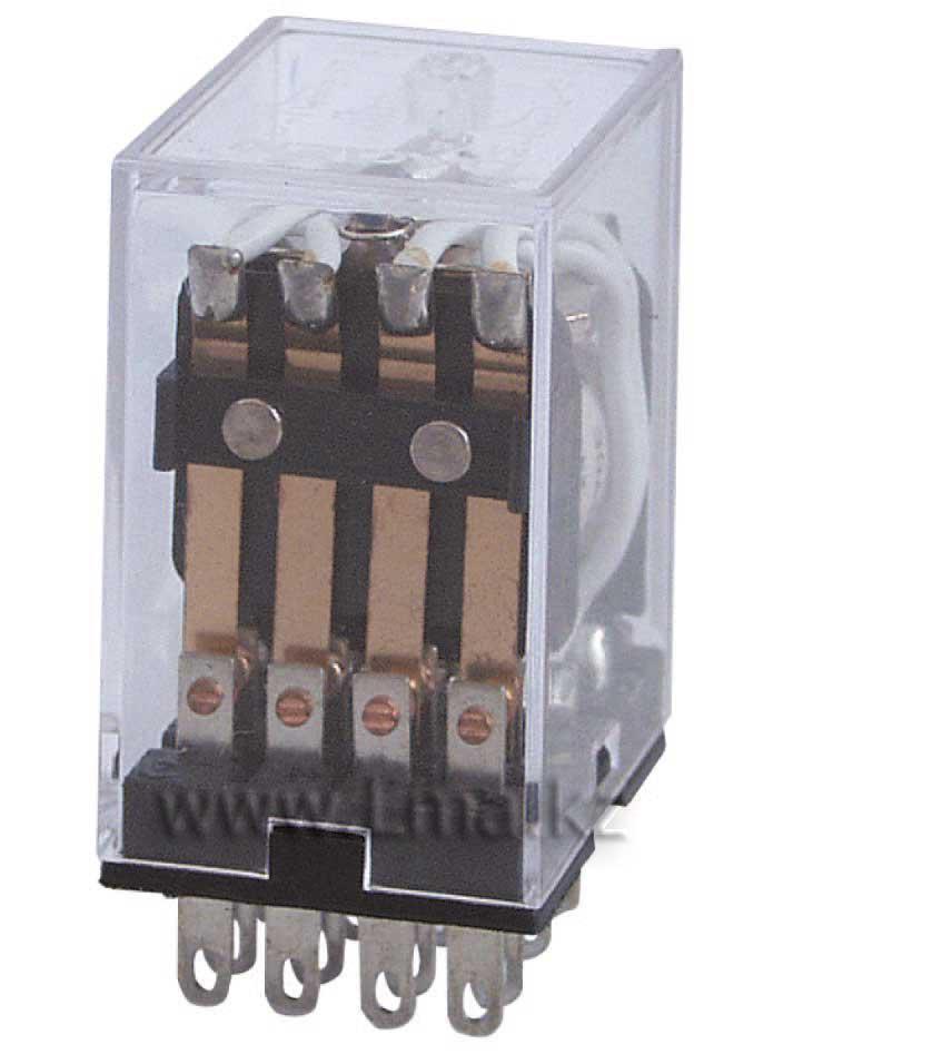 Реле промежуточное MY-4 РПЛ4-5А DC 24V, 4 пары контактов 5А