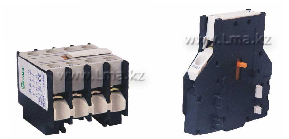 Блок доп. контактов с таймером TSA2-DT2 БДК-ЗЗ-Л (0.1-30с)  ON задержка замыкания