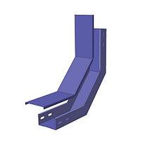 Секция замковая Подъём монтажного лотка North Aurora ЛМЗП 200*50-0.7-90-ОЦ 460 484 Без крышки