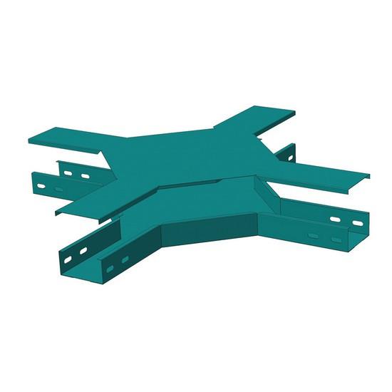 Замковая Х-секция монтажного лотка North Aurora ЛМЗХ 100*50-0.7-ОЦ 440 164 Без крышки