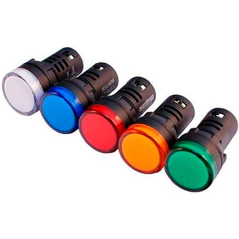 Арматура сигнальная диодная AD22-22DS (АС-22Л-Д) 220V AC; 24V AC/DC (зеленая, красная, желтая, белая) д.22 мм