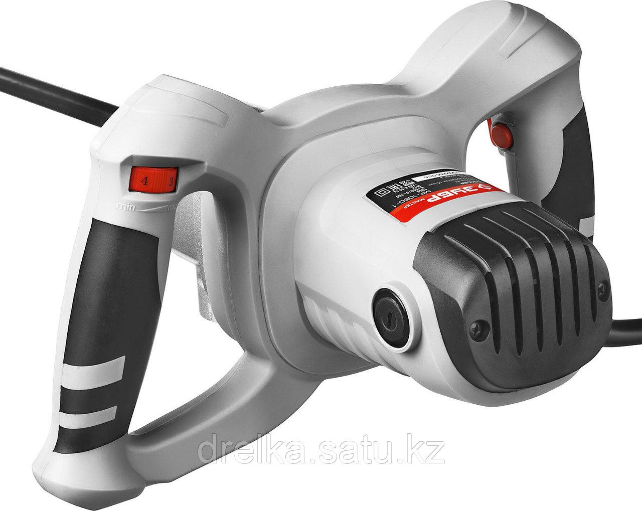 Строительный миксер ЗУБР МР-1050-1, МАСТЕР, одинарный, универсальный вверх/вниз, 1050 Вт, 2 скорости - фото 3