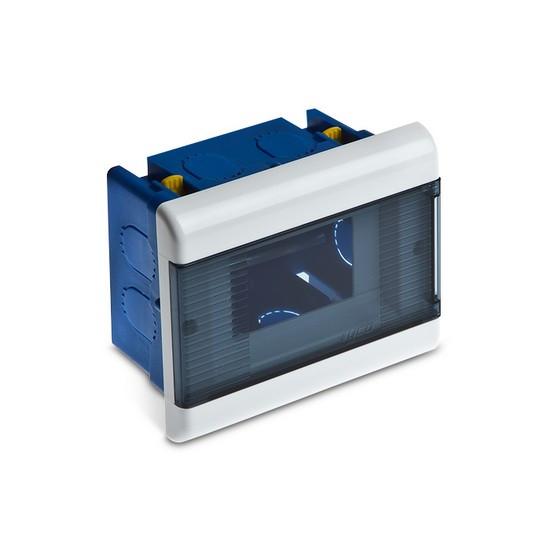 Щиток TYCO 68224 Для скрытой проводки ГСК на 4 мод. с дверцей 140х112х70мм