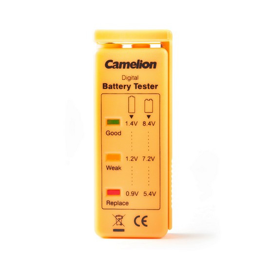 Тестер заряда батарей CAMELION BT-0503 Тестер уровня заряда батарей AA/AAA/C/D/9V/таблетки Блистер