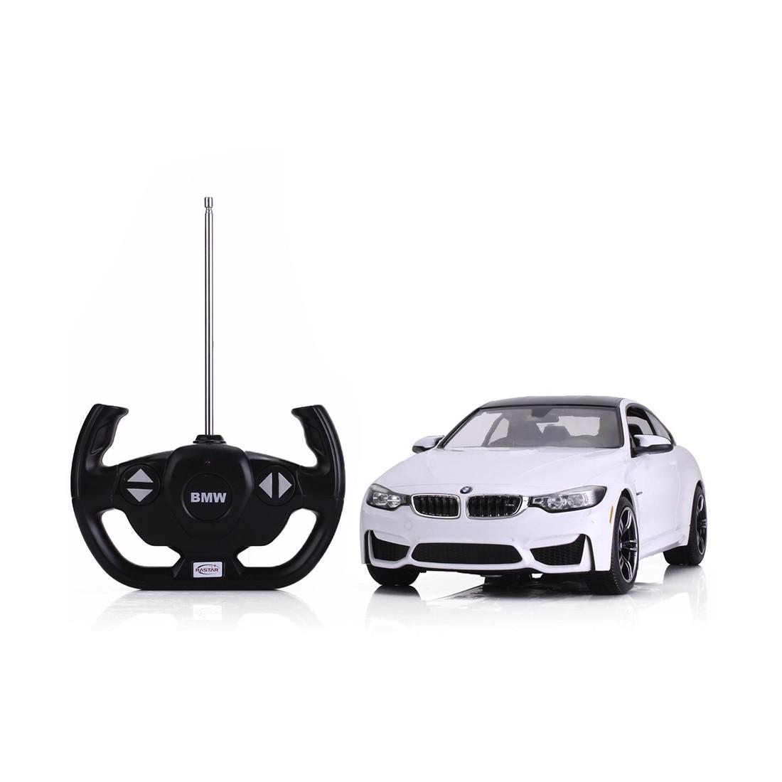 Радиоуправляемая машина RASTAR 70900W 1:14 BMW M4 Пластик 27 Mhz Белый