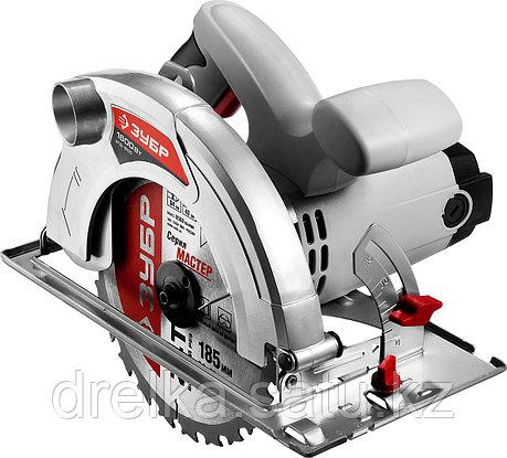 Пила циркулярная ЗУБР ЗПД-1600, пропил 90° - 64 мм; 45°- 43 мм, 185 x 20 мм, 4500 об/мин, 1600 Вт., фото 2