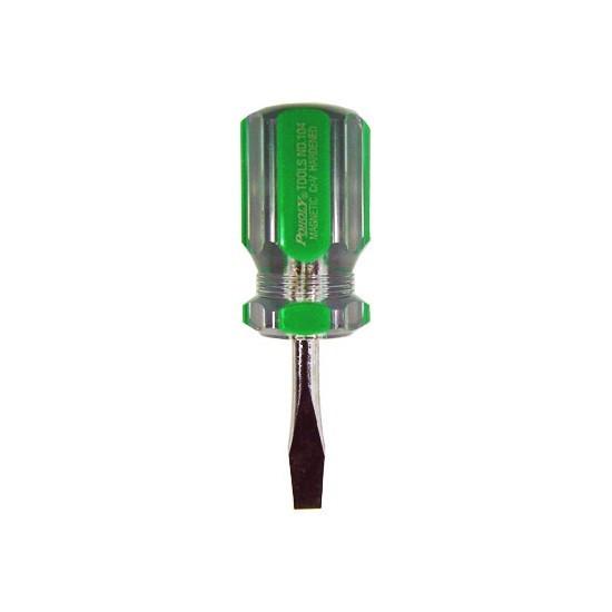 Отвёртка (прямой шлиц) Poholy 104-38- Длина без ручки 38 мм./диаметр 6 мм. Намагниченная