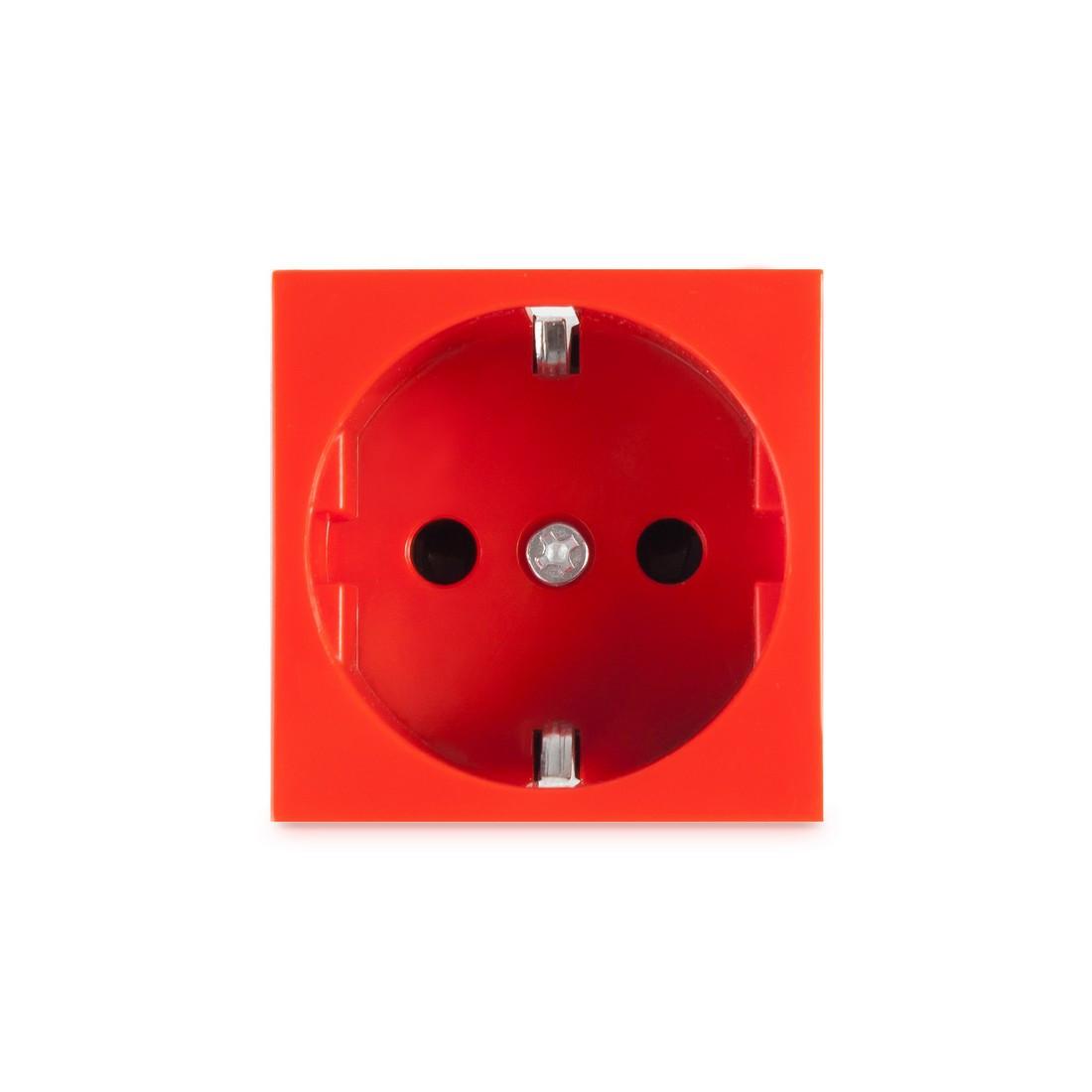 Розетка электрическая Рувинил 70102 Типа Shuko 45x45 мм Красная 250В 16А