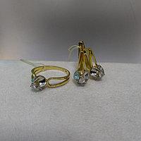Комплект с бриллиантами / жёлтое золото