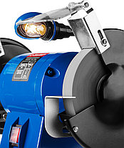 Станок точильный ЗУБР ЗТШМЭ-150-350, ЭКСПЕРТ двойной, лампа подсветки, диск 150 х 25 х 32 мм, 350 Вт., фото 2