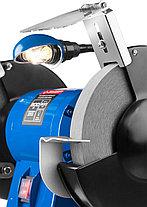 Станок точильный ЗУБР ЗТШМЭ-200-600, ЭКСПЕРТ двойной, лампа подсветки, диск 200 х 25 х 32 мм, 600 Вт., фото 2