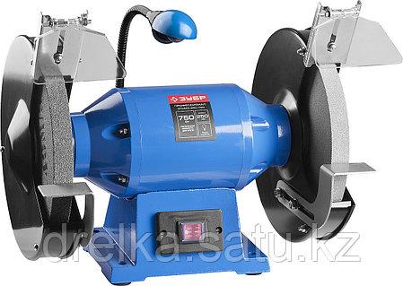 Станок точильный ЗУБР ЗТШМЭ-250-750, ЭКСПЕРТ двойной, лампа подсветки, диск 250 х 25 х 32 мм, 750 Вт., фото 2