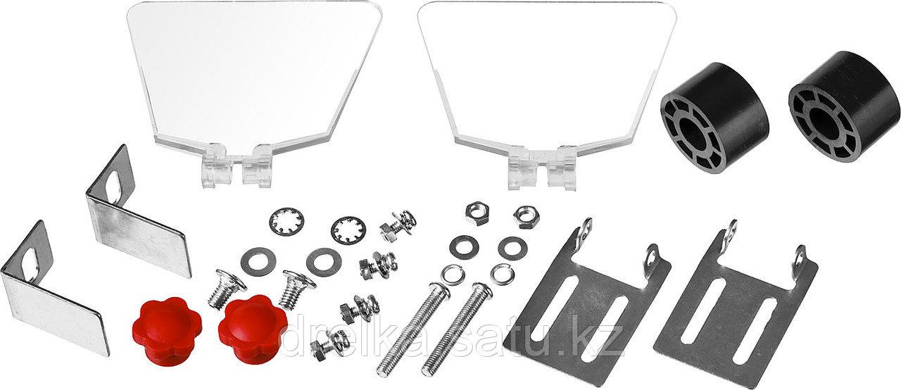 Станок точильный ЗУБР ЗТШМ-150-250, МАСТЕР, двойной, диск 150 х 20 х 32 мм, лампа подсветки, 250 Вт. - фото 6