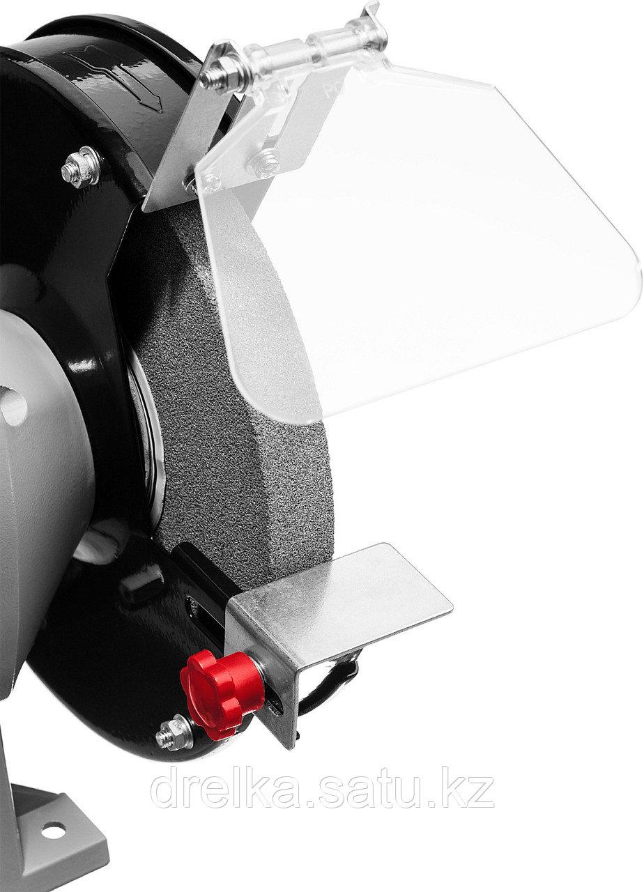 Станок точильный ЗУБР ЗТШМ-150-250, МАСТЕР, двойной, диск 150 х 20 х 32 мм, лампа подсветки, 250 Вт. - фото 2