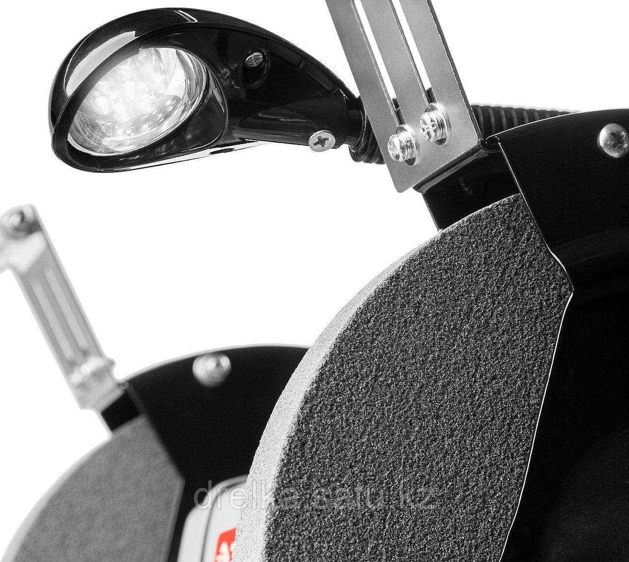 Станок точильный ЗУБР ЗТШМ-150-250, МАСТЕР, двойной, диск 150 х 20 х 32 мм, лампа подсветки, 250 Вт. - фото 4