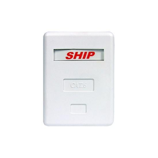 Розетка Настенная SHIP A185-1 1 Модуль Модуль: Cat.6 RJ-45 FTP Белая