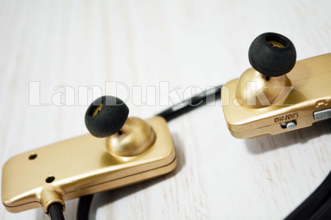 Блютуз наушники Bluetooth Blue Scenery sport F5 золотые - фото 4