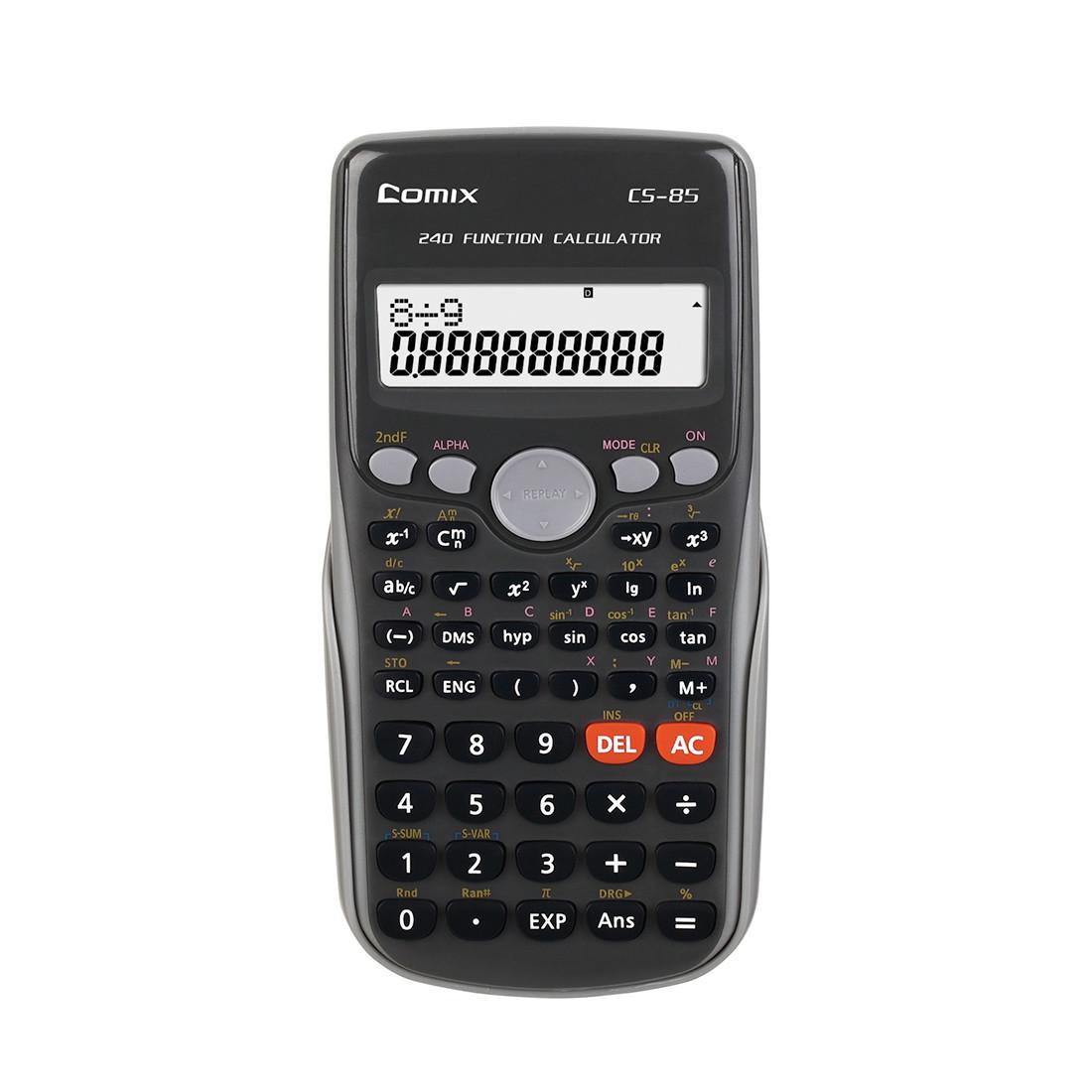 Калькулятор инженерный Comix CS-85 10+2 разряд. Чёрный