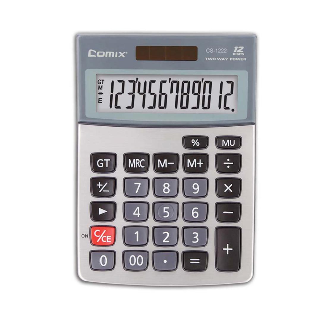 Калькулятор настольный Comix CS-1222 12 разряд. Серый