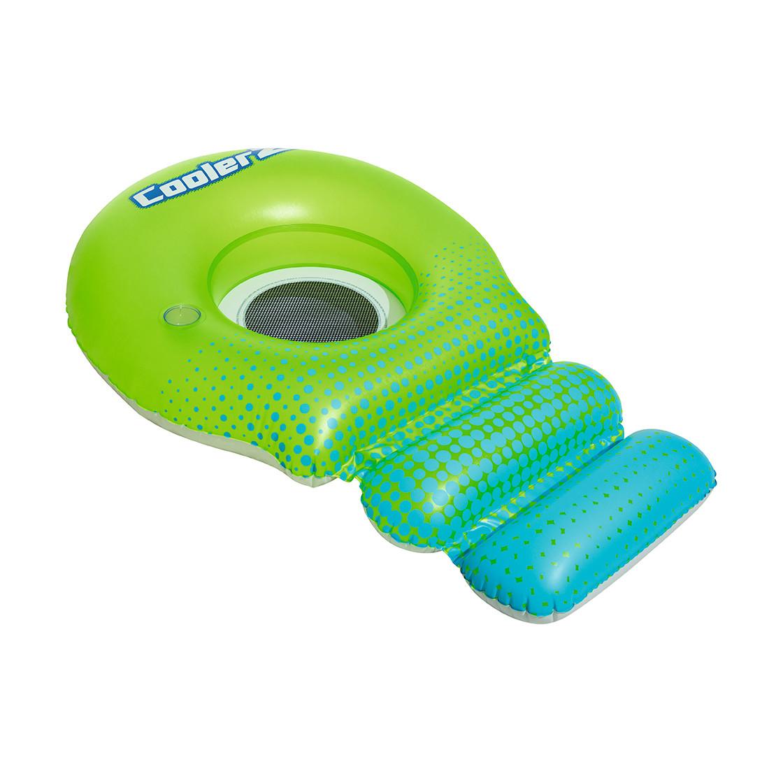 Пляжный шезлонг для отдыха на воде Super Sprawler 188 х 115 см BESTWAY 43138 Винил Сине-зеленый Цветная