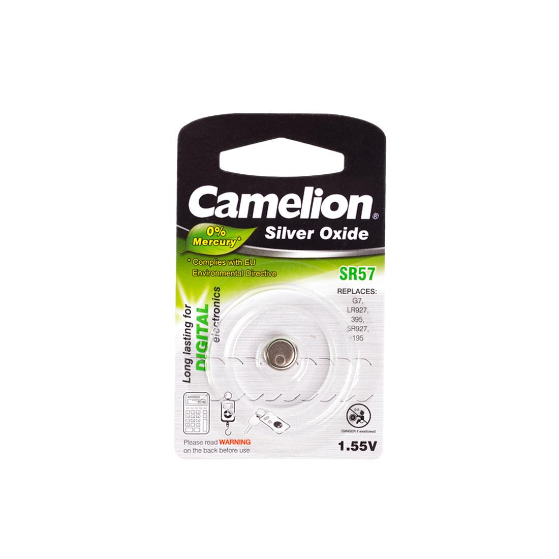 Батарейка CAMELION SR57-BP1(0%Hg)  Silver Oxide 1.55V 0% Ртути 1 шт. Блистер