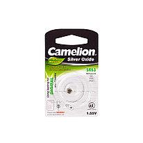 Батарейка CAMELION SR63-BP1(0%Hg)  Silver Oxide 1.55V 0% Ртути 1 шт. Блистер